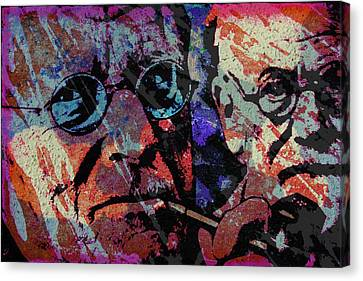 Jung And Freud Canvas Print by Otis Porritt