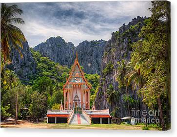 Jungle Temple Canvas Print by Adrian Evans