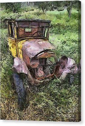 Junk Truck Canvas Print by Murphy Elliott