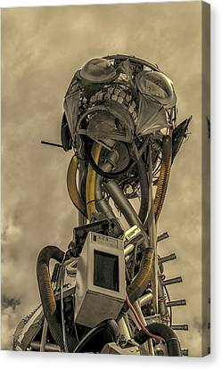 Junk Yard Robot Canvas Print by Martin Newman