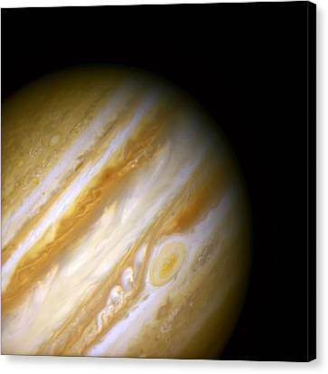 Jupiter And The Great Red Spot Canvas Print by The  Vault - Jennifer Rondinelli Reilly