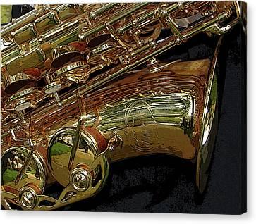 Jupiter Saxophone Canvas Print by Michelle Calkins