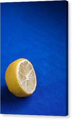 Just A Lemon Canvas Print by Steve Outram