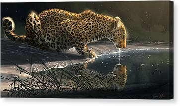 Just A Sip Canvas Print by Aaron Blaise