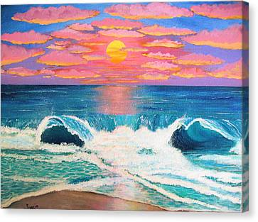 Just Another Red Sky Day Canvas Print by Just Joszie