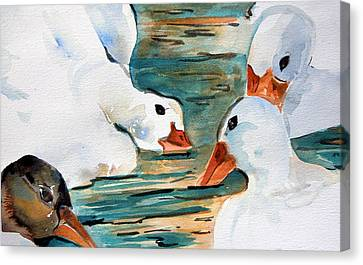 Just Duckie Canvas Print by Mindy Newman