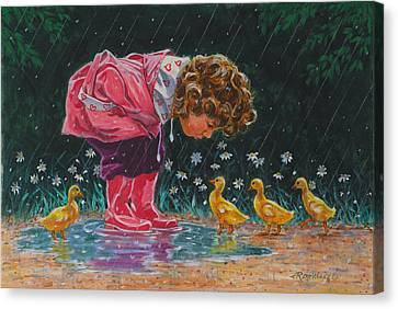 Just Ducky Canvas Print by Richard De Wolfe