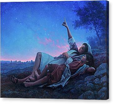 Just For A Moment Canvas Print by Greg Olsen