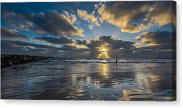Just Her And Me Canvas Print by Peter Tellone