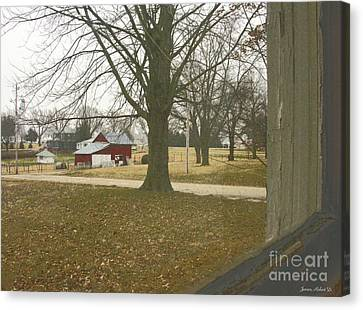 Just Outside The Window Canvas Print by Robert Jensen