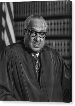Justice Thurgood Marshall 1908-1993 Canvas Print by Everett