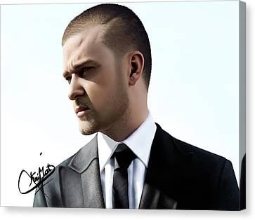 Justin Timberlake Drawing Canvas Print by Krimat Ibrahim