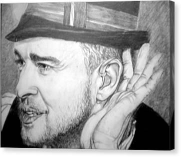 Justin Timberlake Canvas Print by Sean Leonard