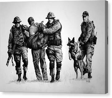 K-9 One In Custody Canvas Print by Duncan  Way
