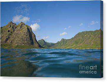 Kaaawa Valley From Ocean Canvas Print by Dana Edmunds - Printscapes