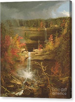 Kaaterskill Falls Canvas Print by Thomas Cole