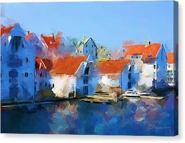 Kai Haugesund  Canvas Print by Michael Greenaway