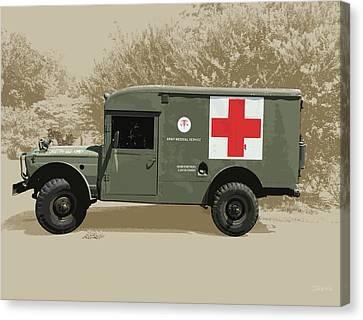Kaiser Jeep M725 Army Canvas Print by Greg Joens