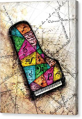 Kaleidoscope Sonata Canvas Print by Gary Bodnar