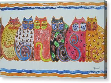 Kalico Kitties Canvas Print by Marsha Elliott