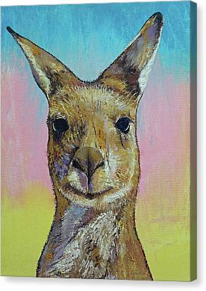 Kangaroo Canvas Print by Michael Creese