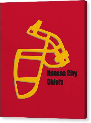 Kansas City Chiefs Retro Canvas Print by Joe Hamilton