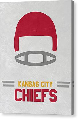 Kansas City Chiefs Vintage Art Canvas Print by Joe Hamilton