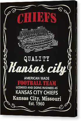 Kansas City Chiefs Whiskey Canvas Print by Joe Hamilton