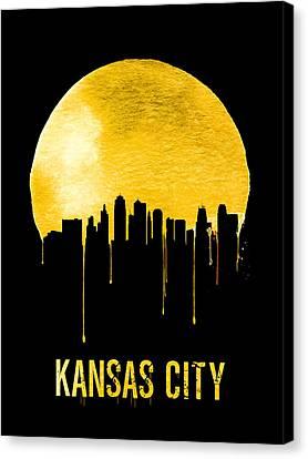 Kansas City Skyline Yellow Canvas Print by Naxart Studio