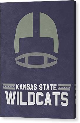 Kansas State Wildcats Vintage Football Art Canvas Print by Joe Hamilton