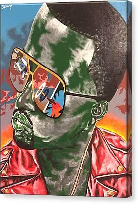 Kanye Visions Canvas Print by Sammy Snow