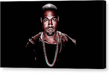 Kanye West Canvas Print by Queso Espinosa