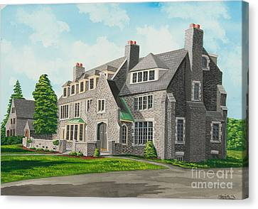 Kappa Delta Rho South View Canvas Print by Charlotte Blanchard