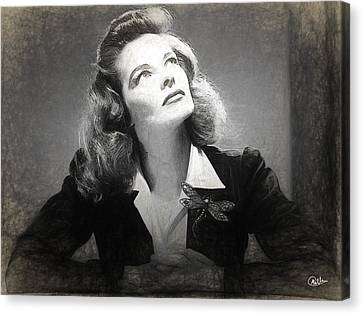 Katharine Hepburn Canvas Print by Quim Abella