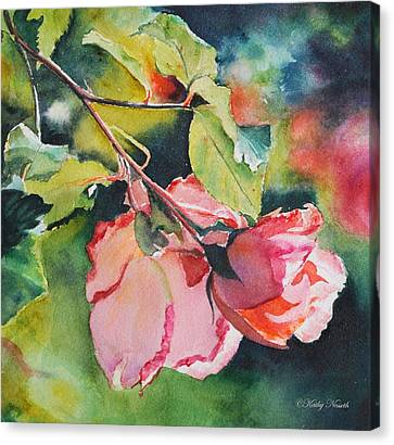 Kathy's Roses Canvas Print by Kathy Nesseth