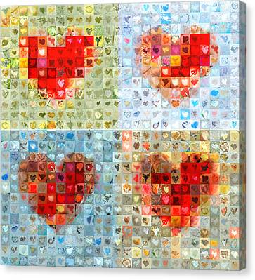 Katrina's Heart Wall - Custom Design Created For Extreme Makeover Home Edition On Abc Canvas Print by Boy Sees Hearts