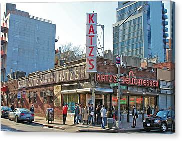 Katz's Canvas Print by Jerry Patterson
