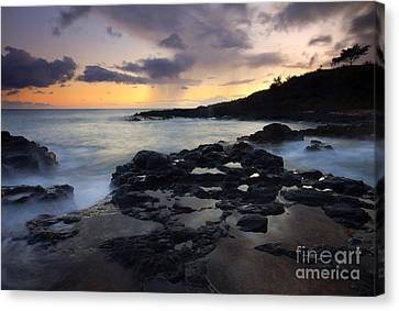 Kauai Storm Passing Canvas Print by Mike  Dawson