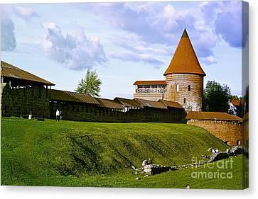 Kaunas Castle Canvas Print by Arvydas Kantautas
