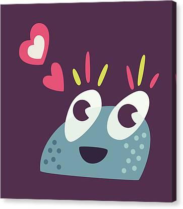Kawaii Cute Cartoon Candy Character Canvas Print by Boriana Giormova