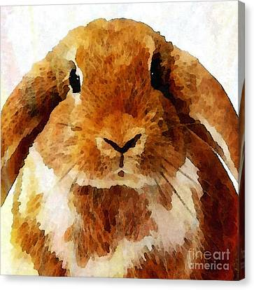 Keep Calm And Love Bunnies Canvas Print by Stacey Chiew