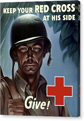 Keep Your Red Cross At His Side Canvas Print by War Is Hell Store