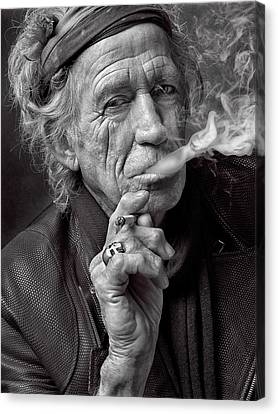 Keith Richards Canvas Print by Hans Wolfgang Muller Leg