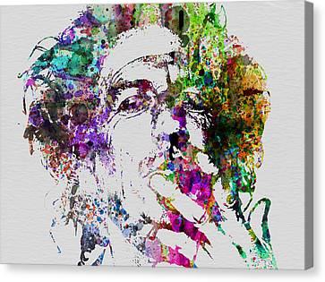 Keith Richards Canvas Print by Naxart Studio