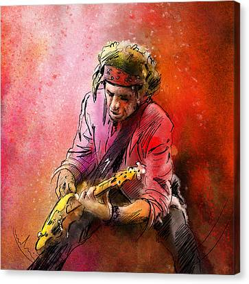 Keith Richards Canvas Print by Miki De Goodaboom