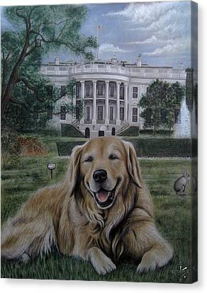 Kelli On The White House Lawn Canvas Print by Jonathan Anderson