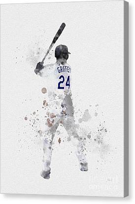Ken Griffey Jr Canvas Print by Rebecca Jenkins