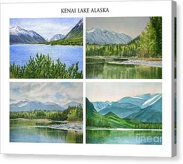 Kenai Lake Alaska Poster With Title Canvas Print by Sharon Freeman