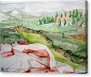 Kennedy Meadows 2 Canvas Print by Amy Bernays