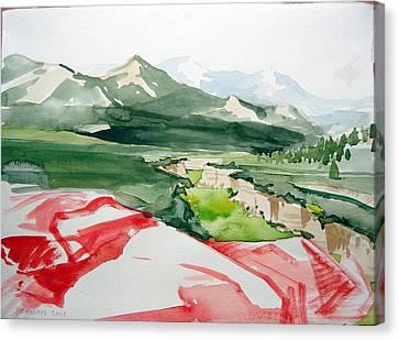 Kennedy Meadows Canvas Print by Amy Bernays
